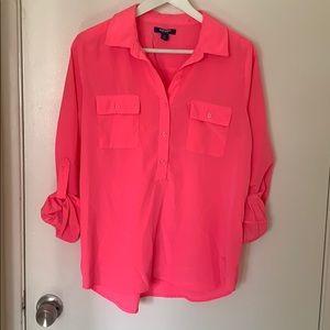 Long sleeved neon pink top!
